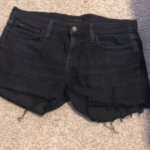 Joe's Jeans cutoff jean shorts, size 27, black